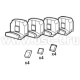 "Стенд шиномонтажный для грузовых автомобилей Набор из 4-х насадок для литых ободов ""Giuliano"" 137/90(арт: Silver-137/90)"