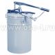 Солидолонагнетатель ручной 16л, шланг 1.8 м, производительность 7,5 гр. за одно нажатие (арт. 17211011)