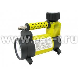 Компрессор автомобильный MEGAPOWER в сумке С фонарем светодидный S-23010(арт: М-23010)