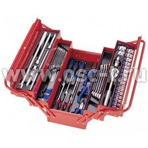 Набор инструментов в металлическом раздвижном ящике (арт: 902-062MR)