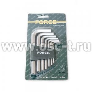 Набор шестигранников Force Г-образных дюймовые (арт: 5072S)