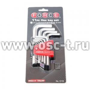 Набор шестигранников Force, Г-образных (арт:  F5116)