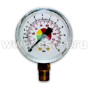 """ASTURO Манометр для компрессора радиальный 12 Бар 63 мм 1/4"""" (арт. AST_В210/3)"""